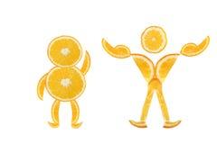 Trasformazione del corpo. da grasso a muscolare. Fotografie Stock