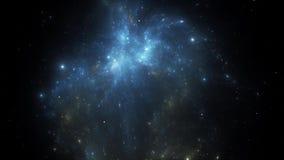 Trasformazione della nebulosa dello spazio video d archivio