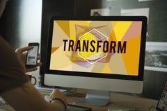 Trasformi creano il concetto di parola di stile di progettazione Fotografia Stock Libera da Diritti