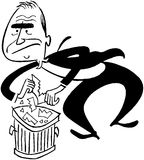 Into The Trash vector illustration