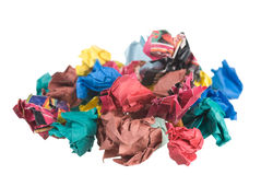 Trash. Waste paper trash on white Royalty Free Stock Photography