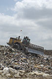 Trash Accumulated At A Landfill Royalty Free Stock Images