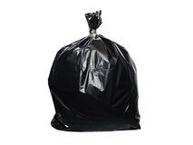 Trash bag isolated. On white background stock photography