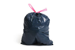 Trash bag. Pollution. Trash bag on a white background Stock Photo