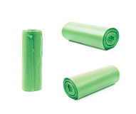Trash bag roll isolated Royalty Free Stock Photos
