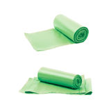 Trash bag roll isolated Royalty Free Stock Images