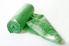 Trash bags rolled up Royalty Free Stock Photo