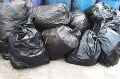 Trash bags Royalty Free Stock Photo