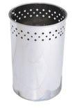 Trash basket . Isolated. Over white background Stock Photography
