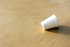 Trash on beach Stock Image