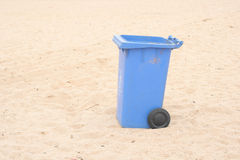 Trash on the beach Royalty Free Stock Photos
