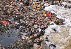 Trash on beach Royalty Free Stock Photo