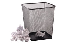 Trash bin Royalty Free Stock Photography