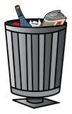 Trash bin. Cartoon vector illustration of a trash bin Royalty Free Stock Images