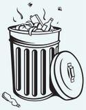 Trash bin full of garbage Stock Photos