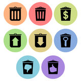 Trash bin icon designs Stock Photography