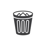 Trash bin icon vector, filled flat sign, solid pictogram isolated on white. Royalty Free Stock Photo