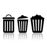 Trash bin icons Stock Photography