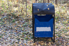 Trash bin in a park Royalty Free Stock Photography