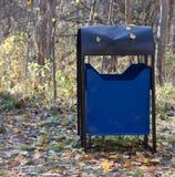 Trash bin in a park Stock Photos