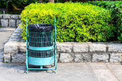 Trash bin in the park Stock Photography