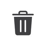Trash bin simple icon vector Stock Photography