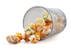 Trash bin tumbled Stock Image