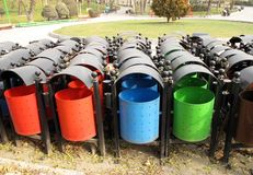 Trash bins Royalty Free Stock Photos