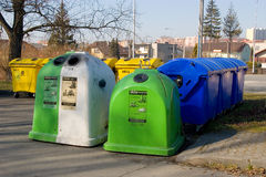 Trash bins and containers Stock Photos