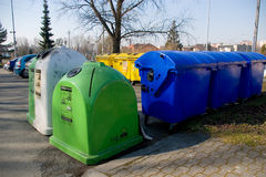 Trash bins and containers Stock Image