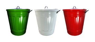 Trash bins Royalty Free Stock Photo