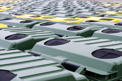 Trash bins for recycling. Close view Royalty Free Stock Photo