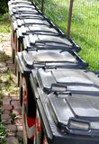 Trash bins for separate waste collection Royalty Free Stock Images