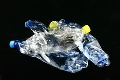 Trash bottles. Pile of squeezed bottles Royalty Free Stock Photography