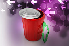 Trash box with recycle icon Royalty Free Stock Photos