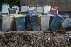 Trash boxes in trash area Stock Photography