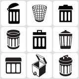 Trash Bucket Icons Set Royalty Free Stock Image