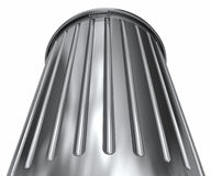 Trash can. A ground up view of a big metal trash can Royalty Free Stock Photos