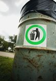 A Trash Can Royalty Free Stock Photography