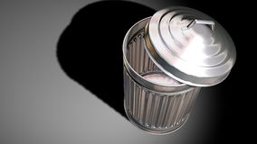 Trash can. A 3d model of an aluminium trash can Stock Photography