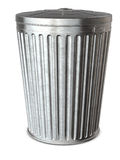 Trash Can & Clipping Path Royalty Free Stock Images
