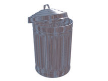 Trash Can with Clipping Path Royalty Free Stock Images