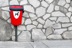 Trash can for dogs Stock Photography