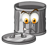 Trash can with emotion. Illustration Royalty Free Stock Photo