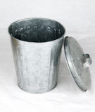 Trash can. In the gray background Stock Images