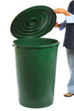 Trash Can - Green Royalty Free Stock Photo