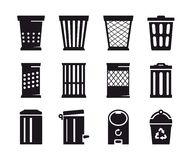Trash can icon Royalty Free Stock Photography