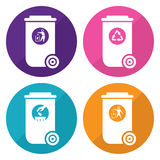 Trash can icon. This is trash can icon design.  file Stock Photo