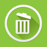 Trash can icon great for any use. Vector EPS10. Stock Images