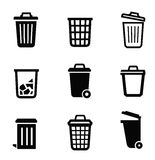 Trash can icon Stock Images